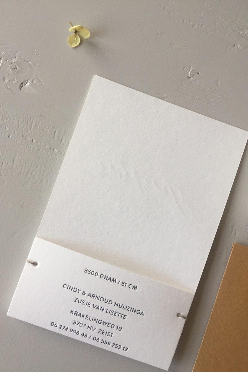 Letterpress geboortekaartje Josephine | Studio Moose