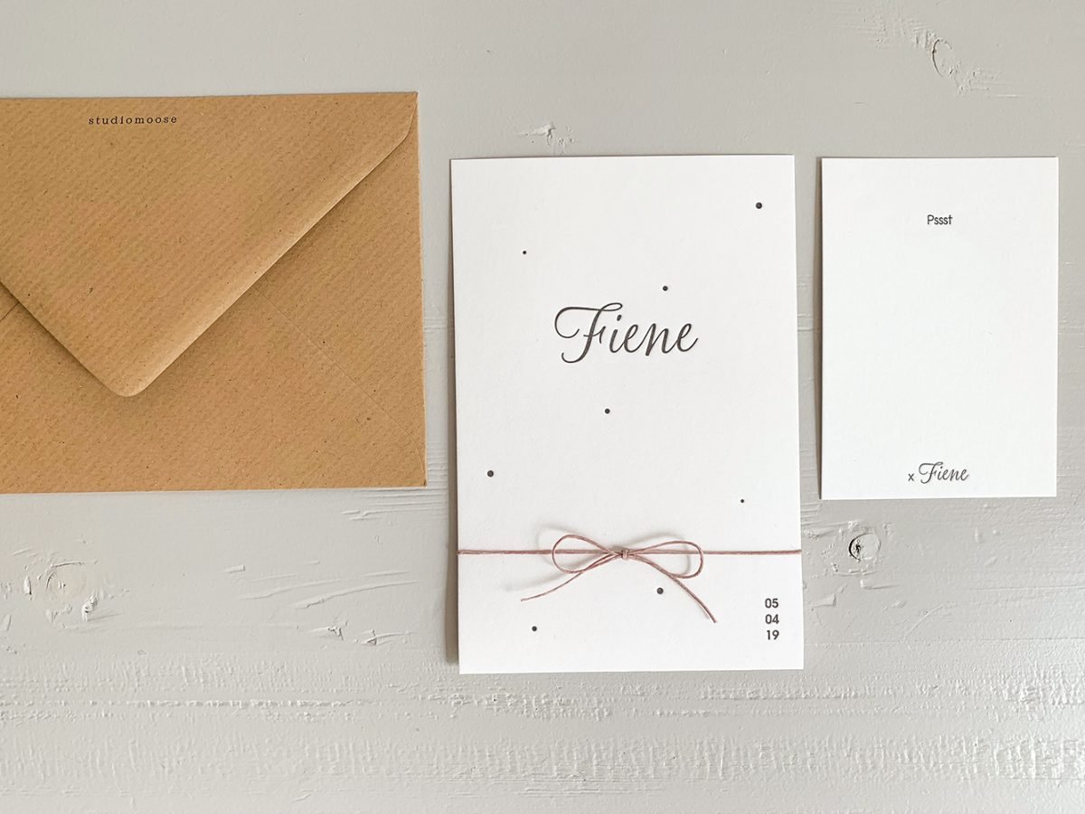 Studio Moose | sweet and soft letterpress