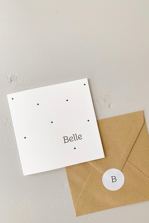 Letterpress geboortekaartje Belle | Studio Moose
