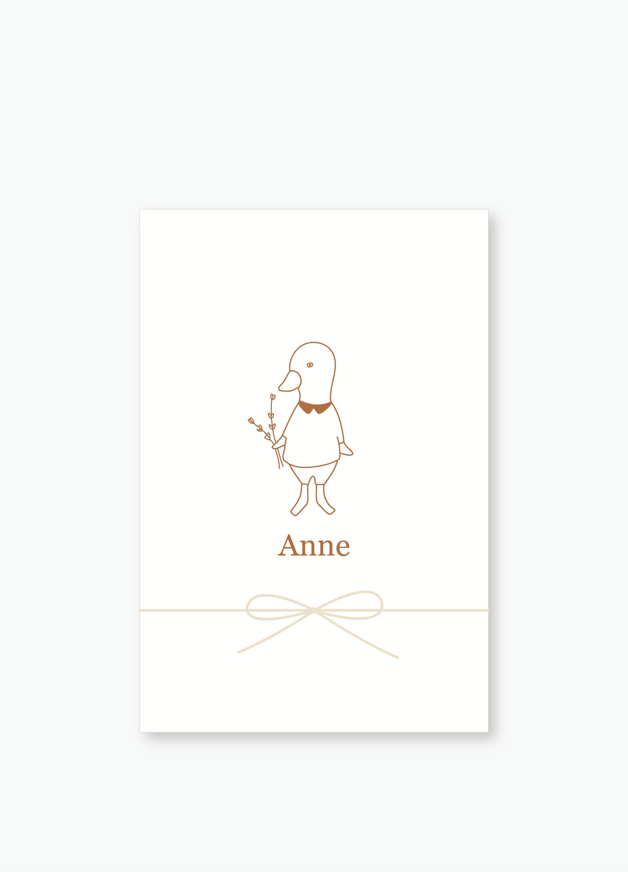 Geboortekaartje Anne | Studio Moose