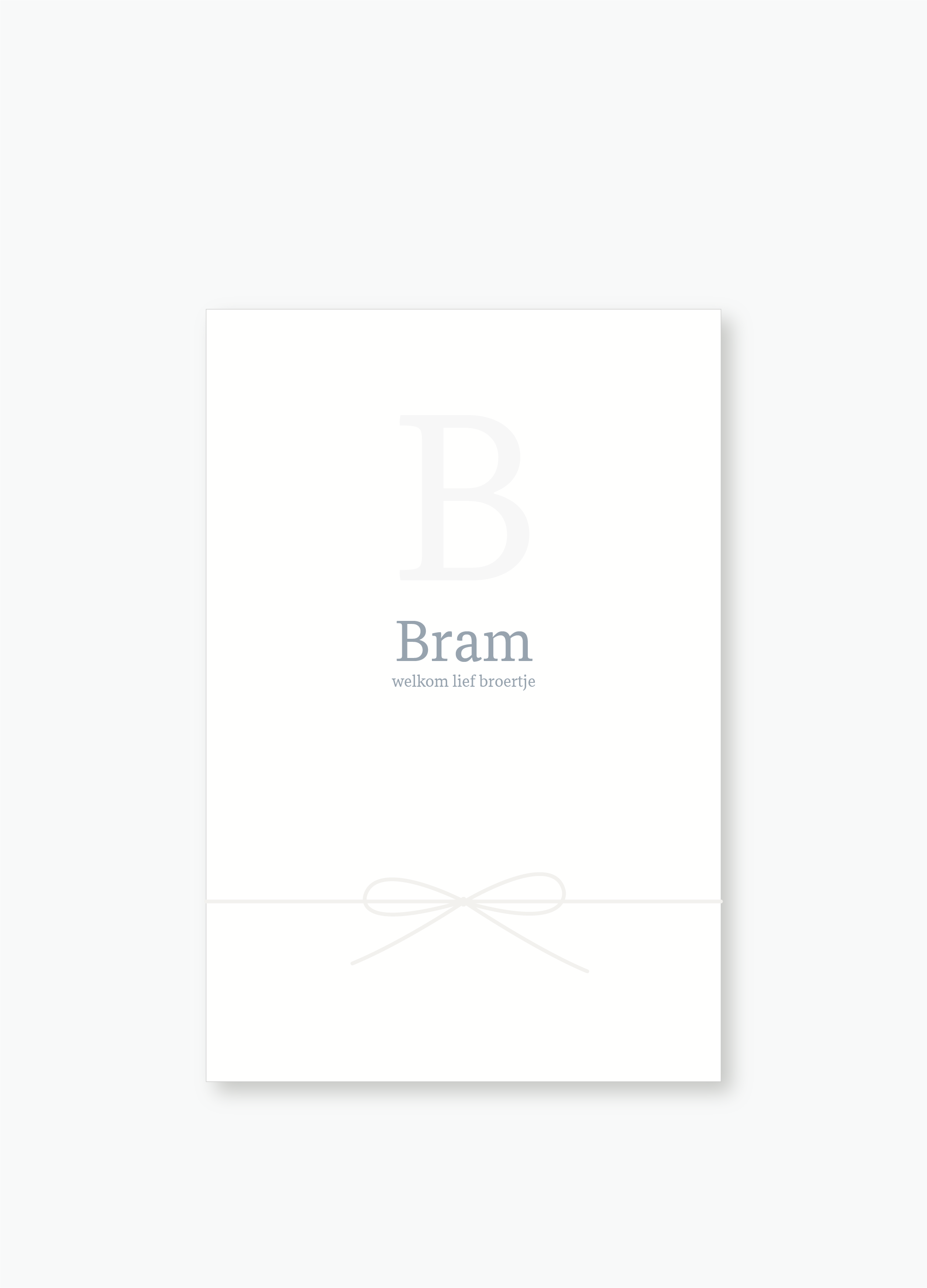 Geboortekaartje Bram | Studio Moose