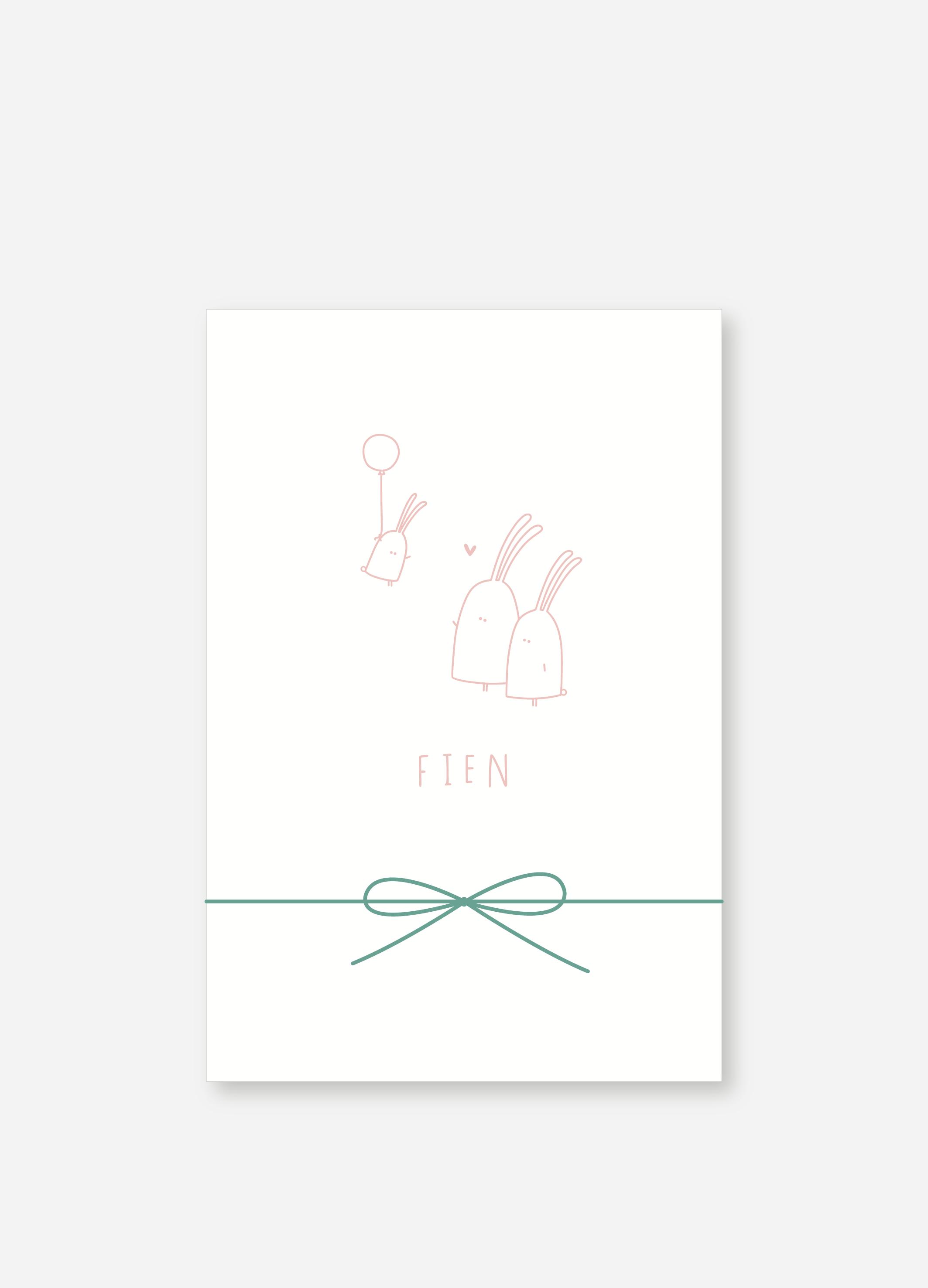 Geboortekaartje Fien | Studio Moose