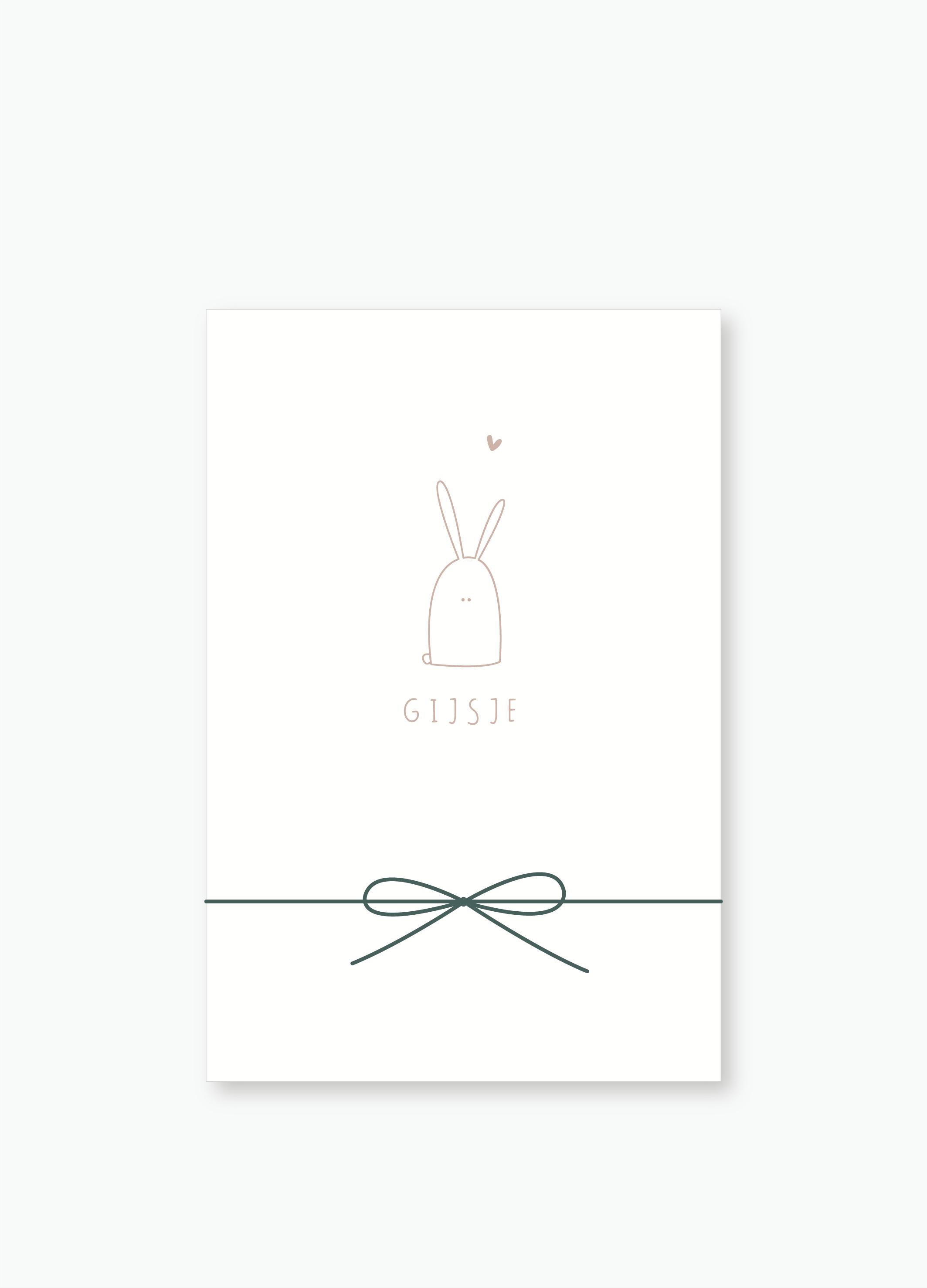 Geboortekaartje Gijsje | Studio Moose