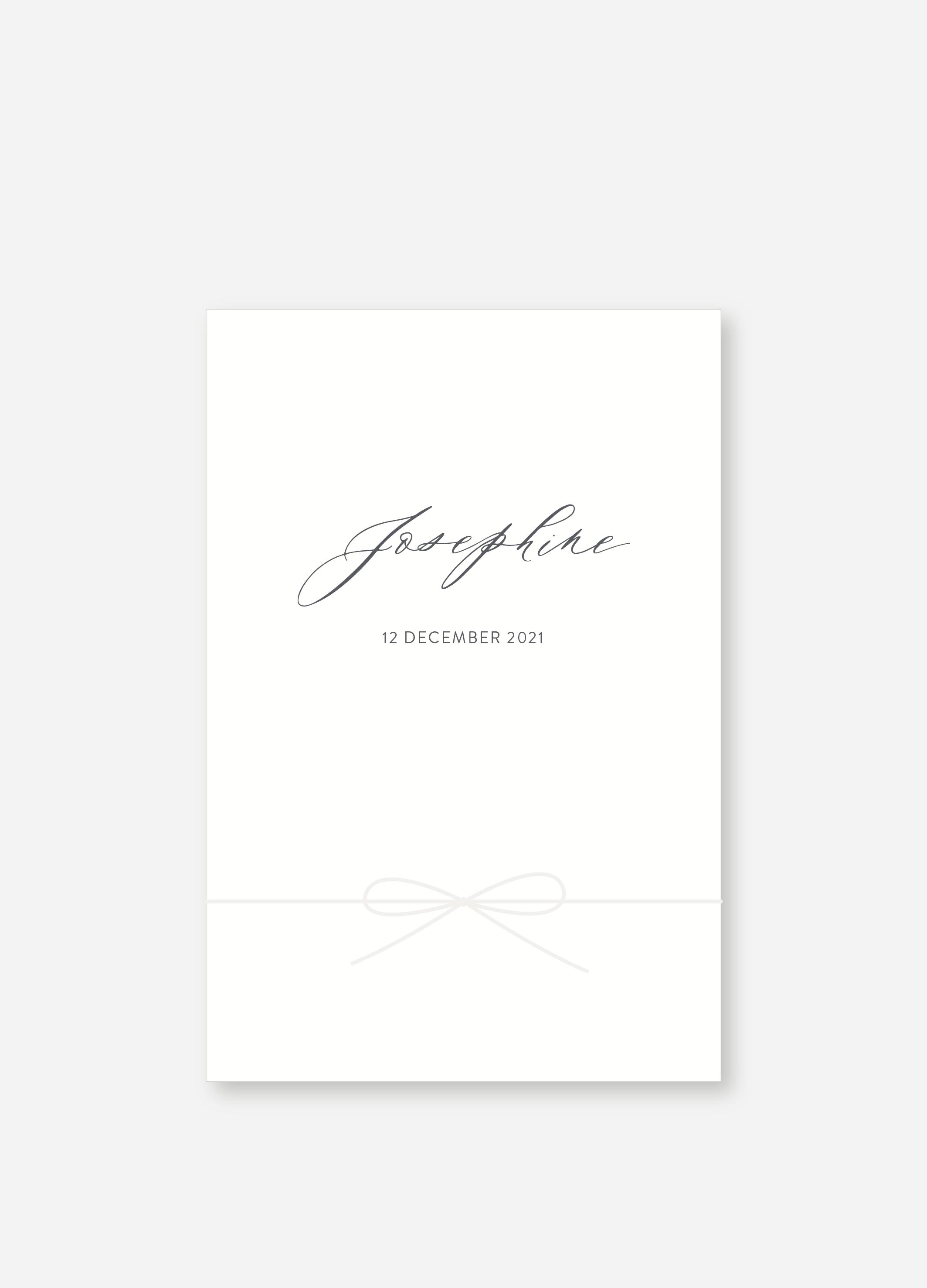 Geboortekaartje Josephine | Studio Moose