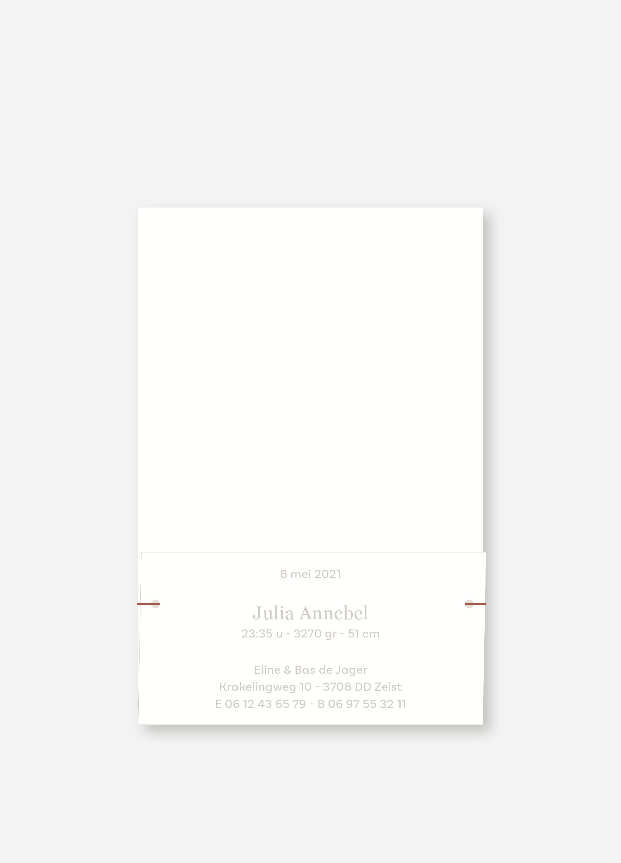 Geboortekaartje Julia   Studio Moose