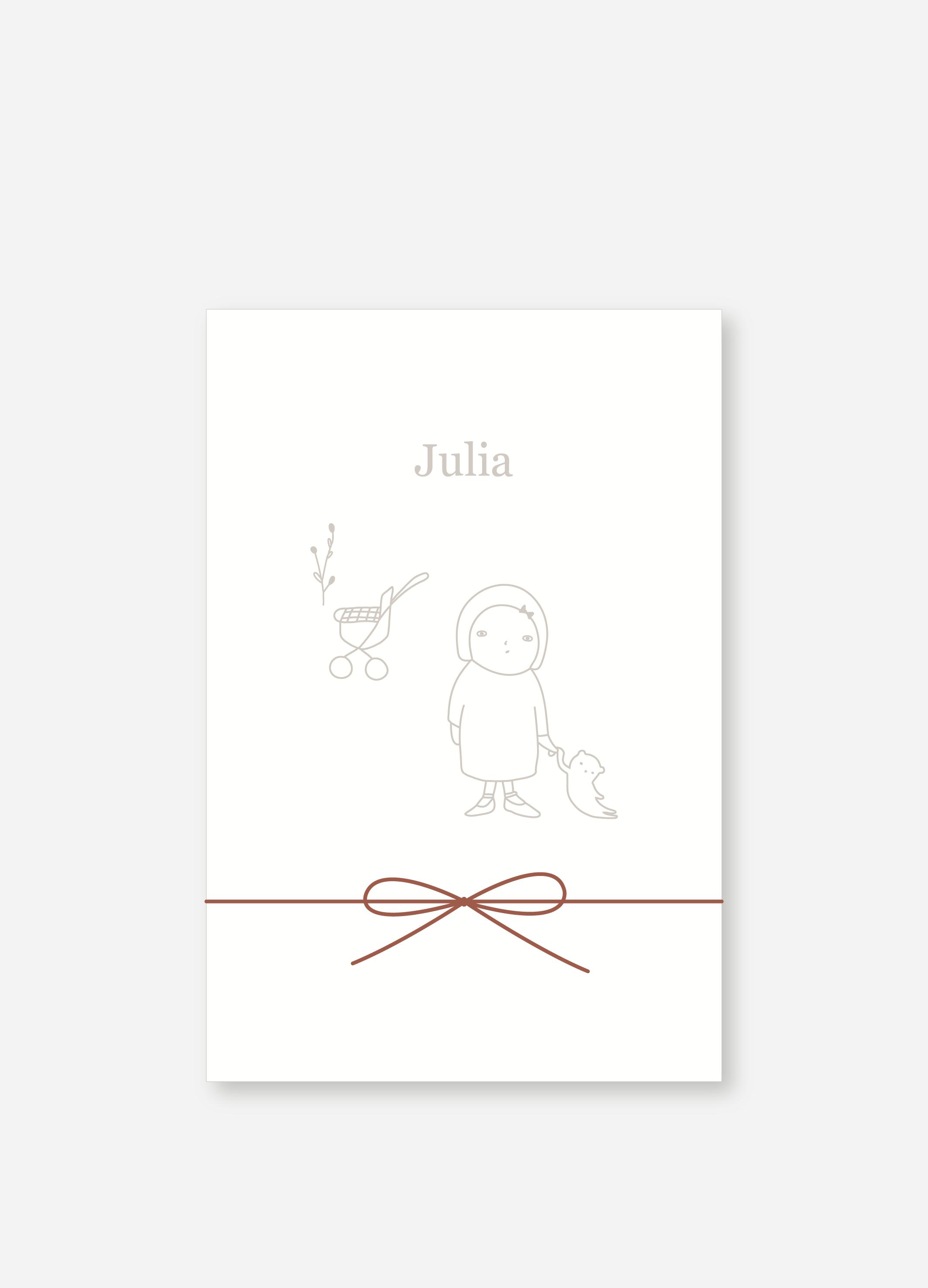 Geboortekaartje Julia | Studio Moose