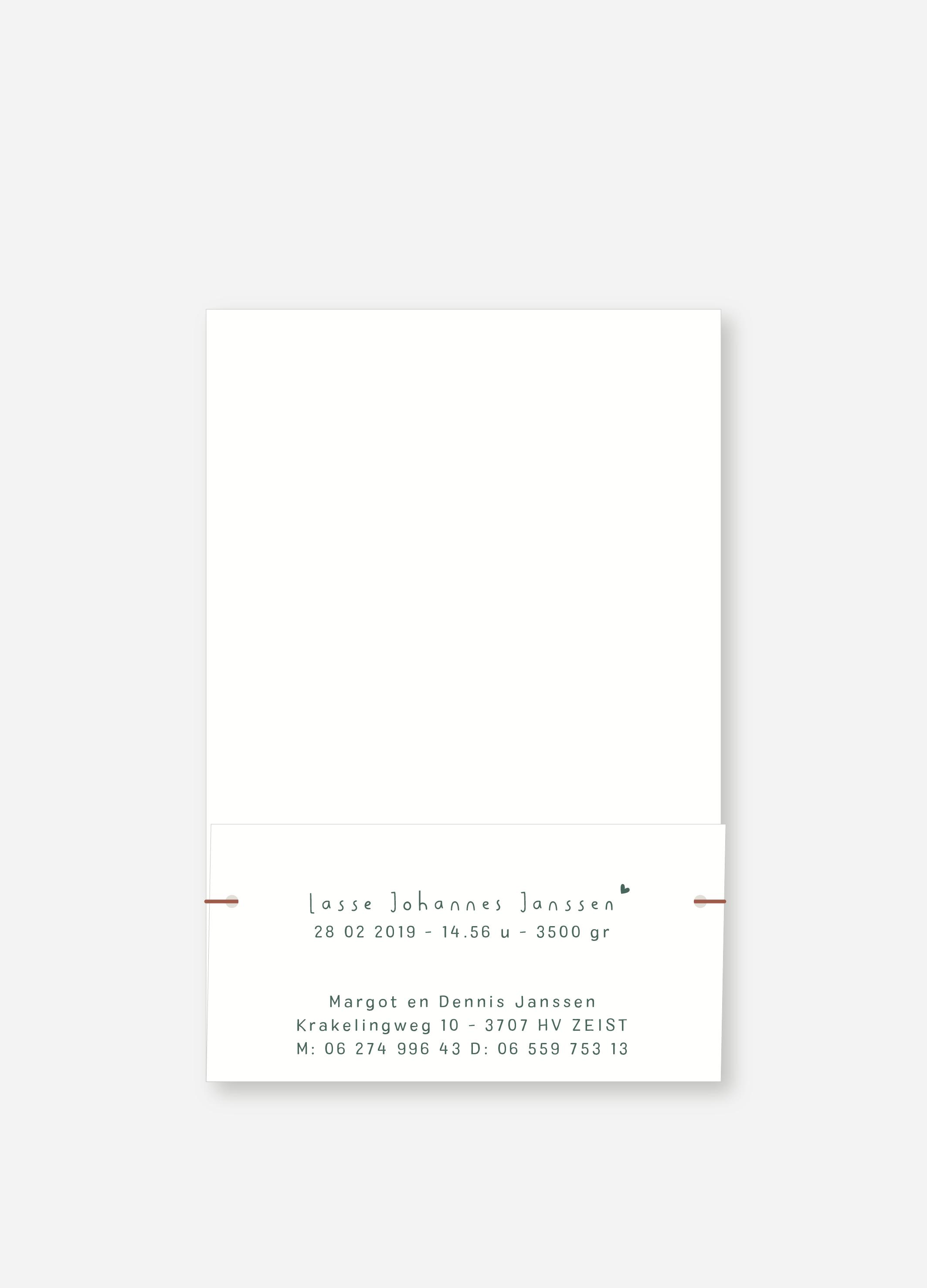 Geboortekaartje Lasse | Studio Moose