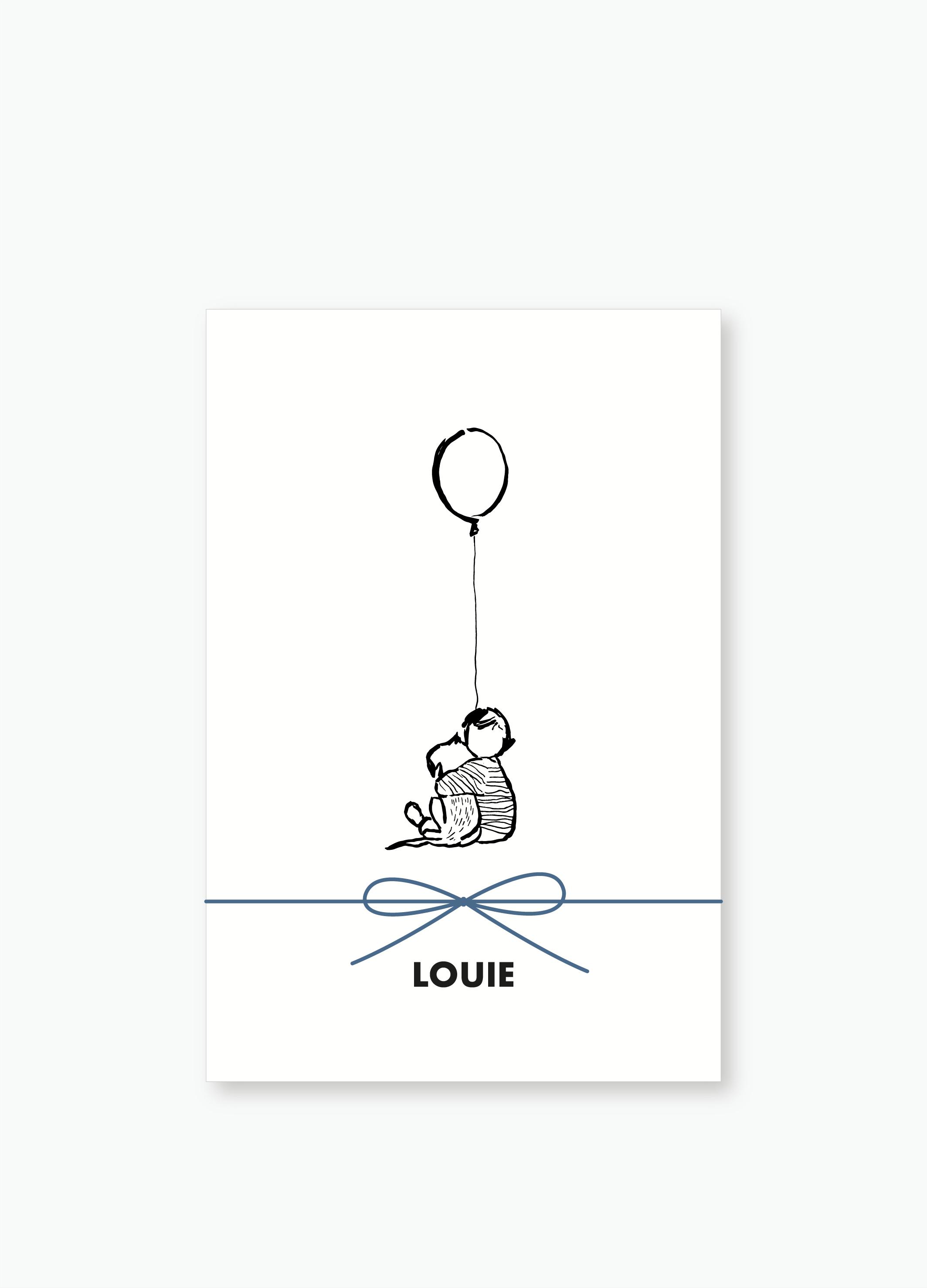 Geboortekaartje Louie | Studio Moose