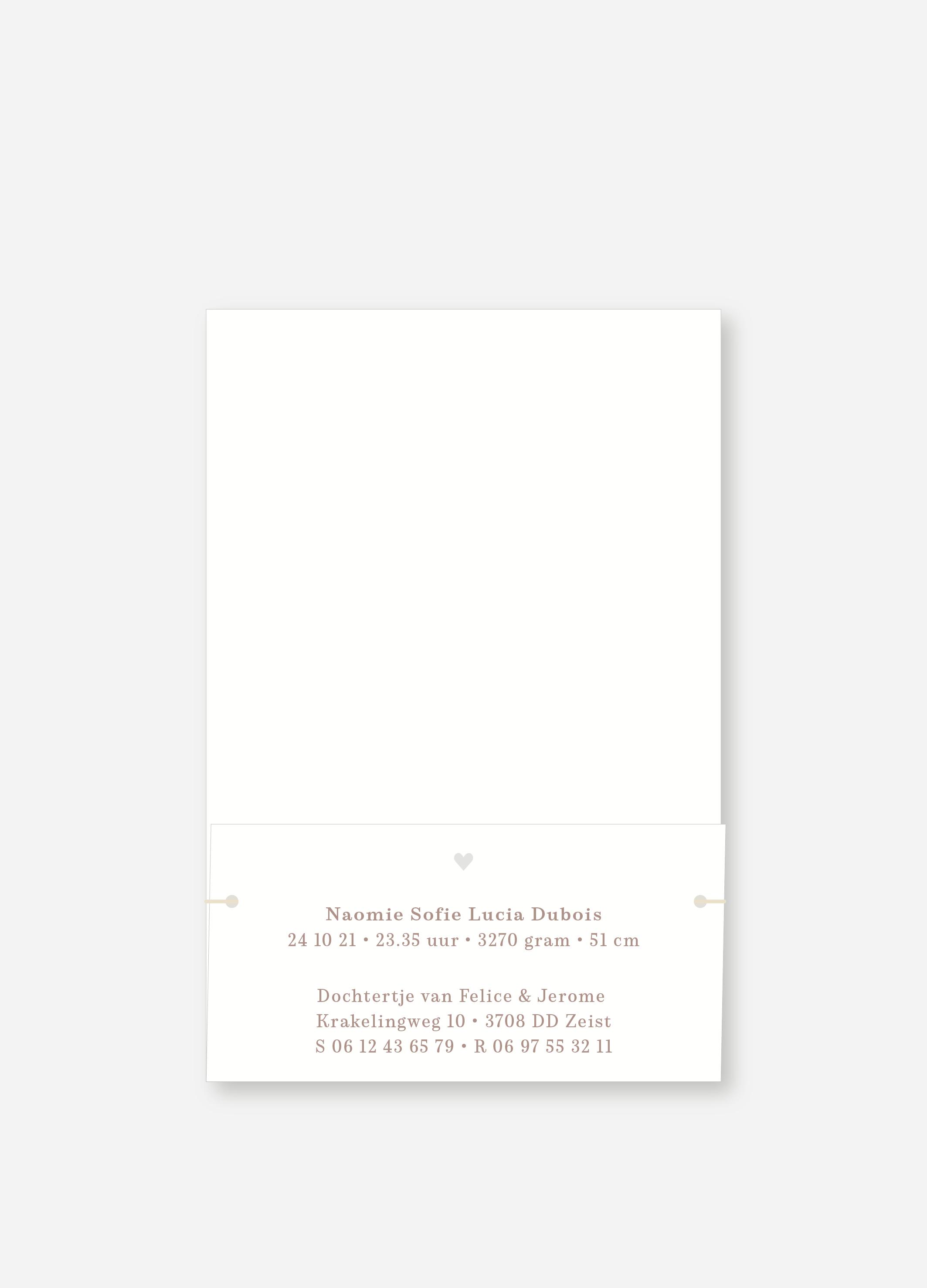 Geboortekaartje Naomie | Studio Moose