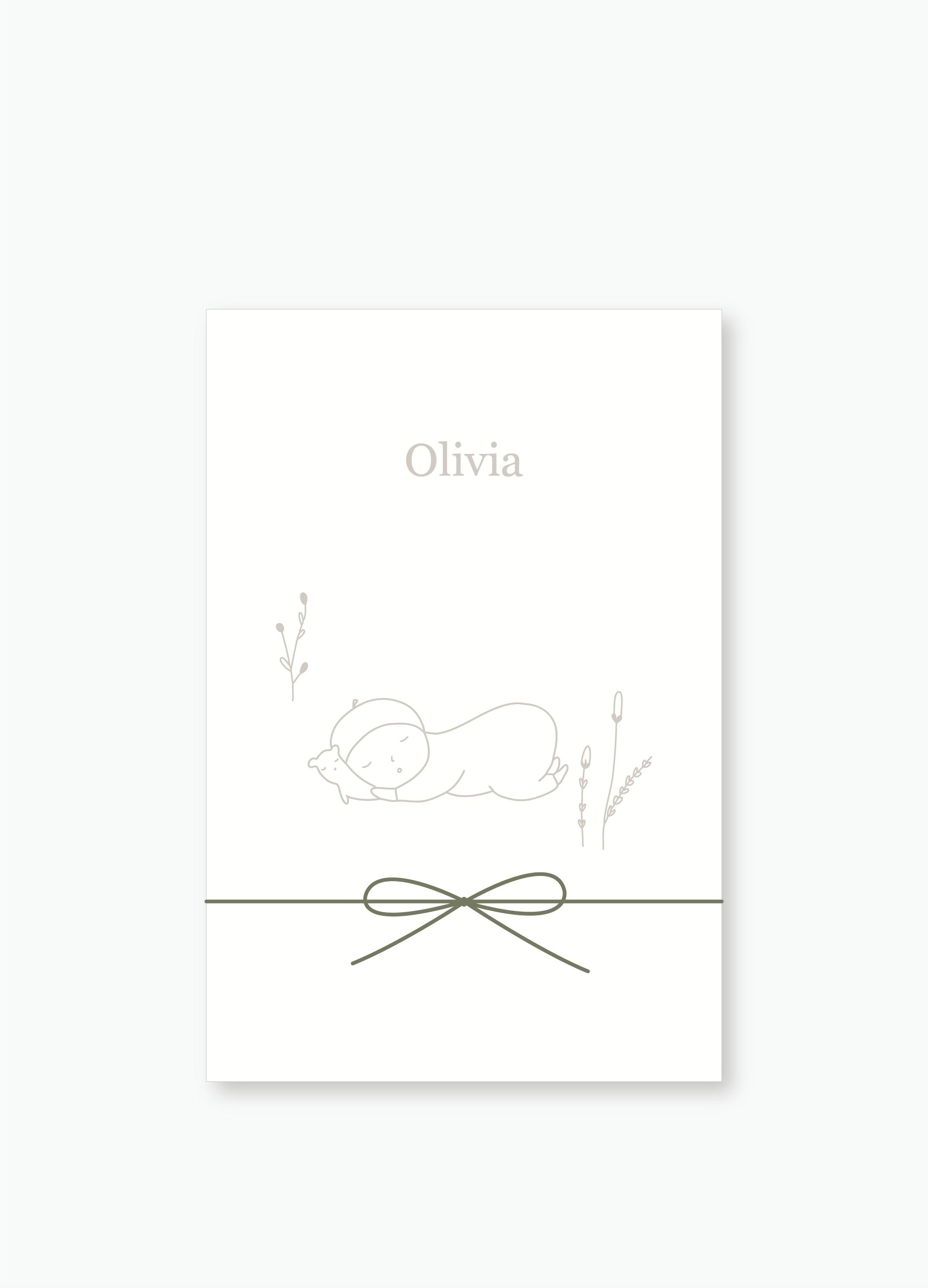 Geboortekaartje Olivia | Studio Moose