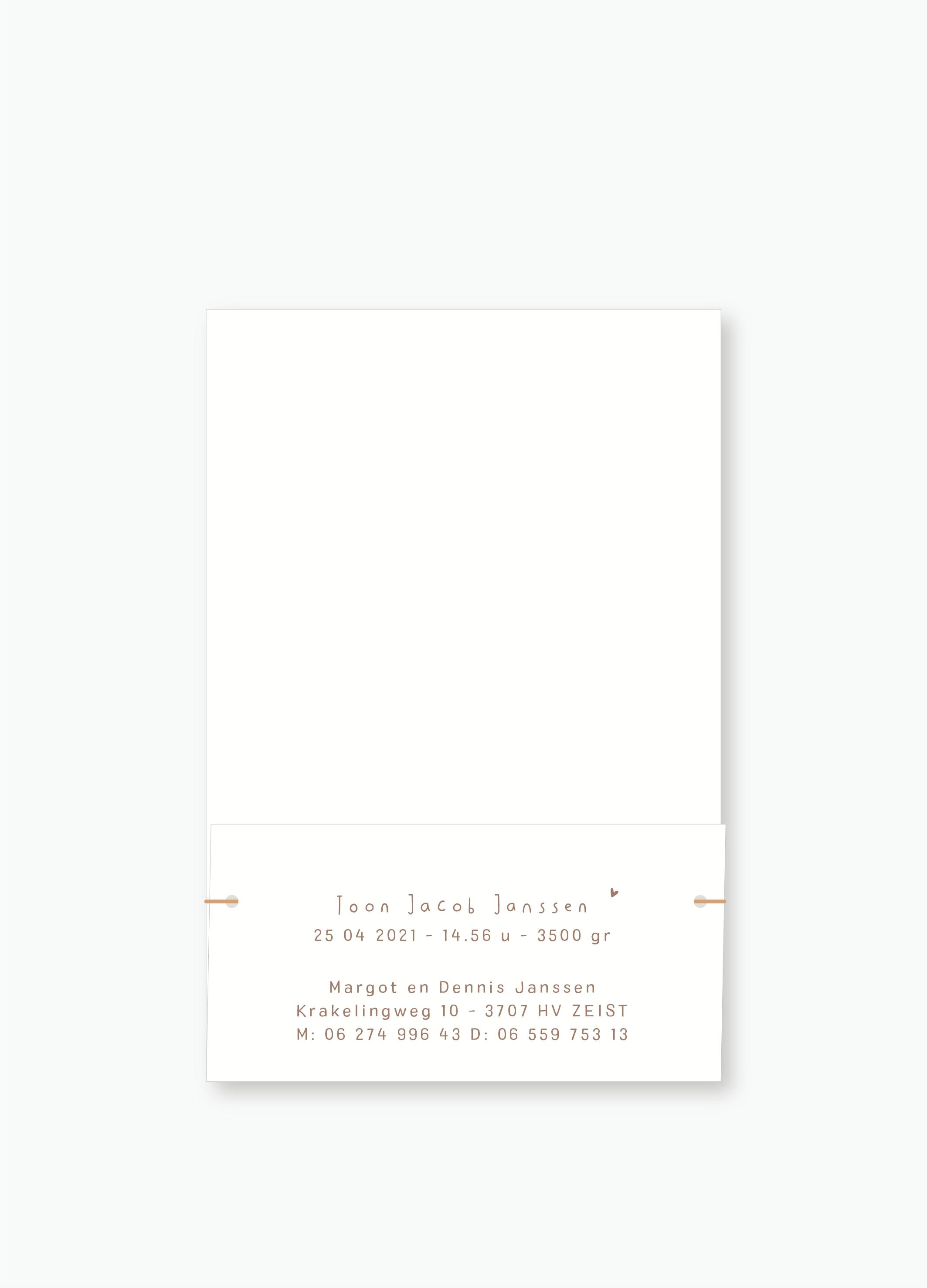 Geboortekaartje Toon | Studio Moose