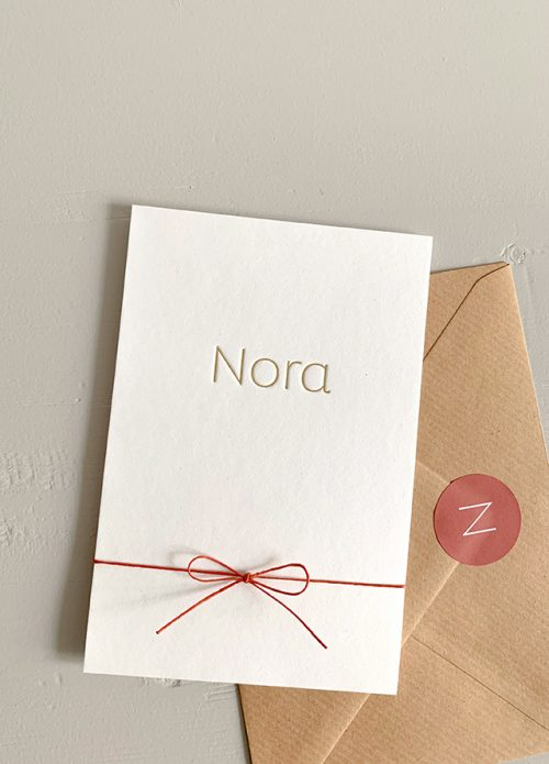 Proefkaartje Nora | Studio Moose