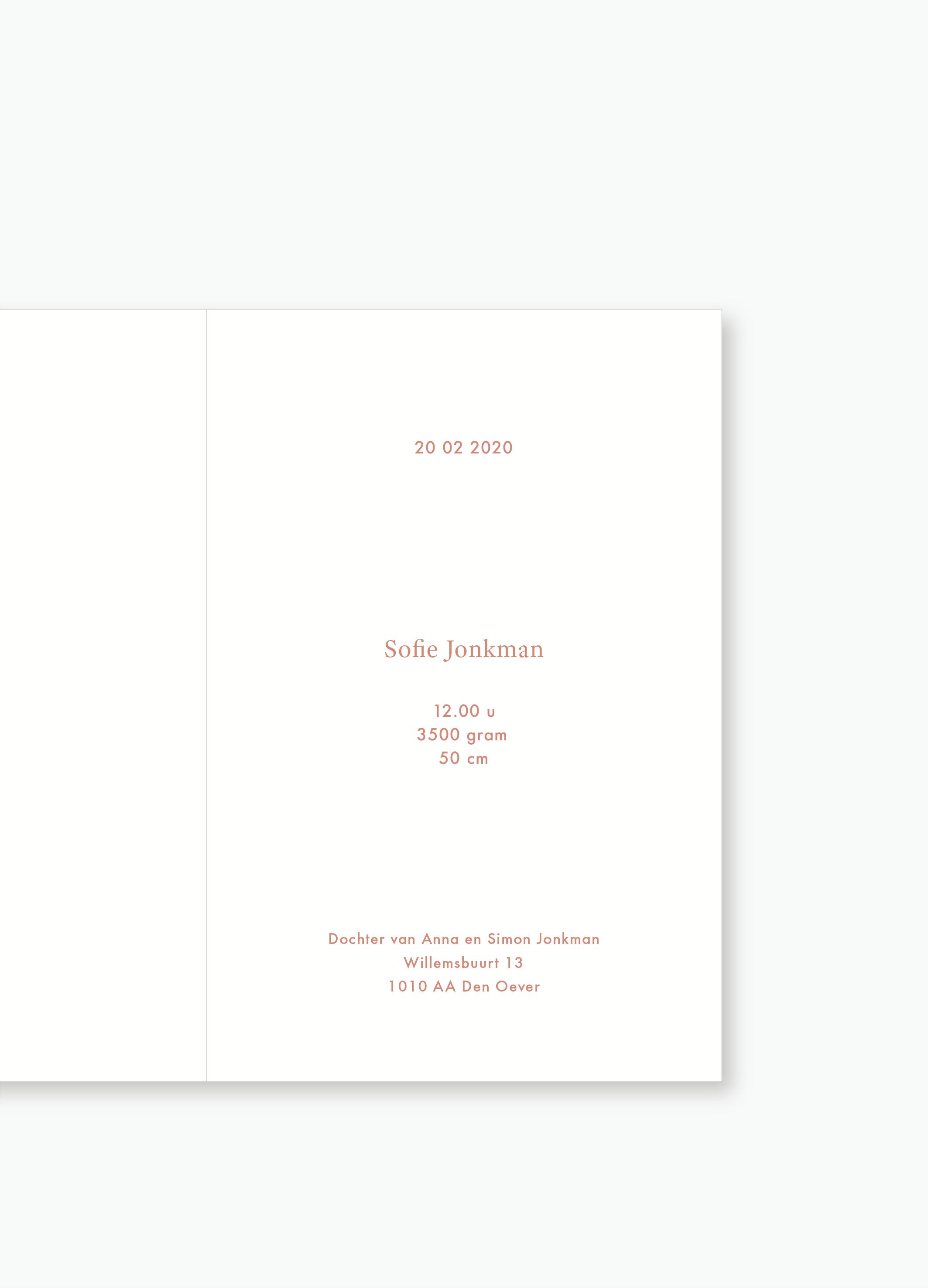 Geboortekaartje Sofie | Studio Moose