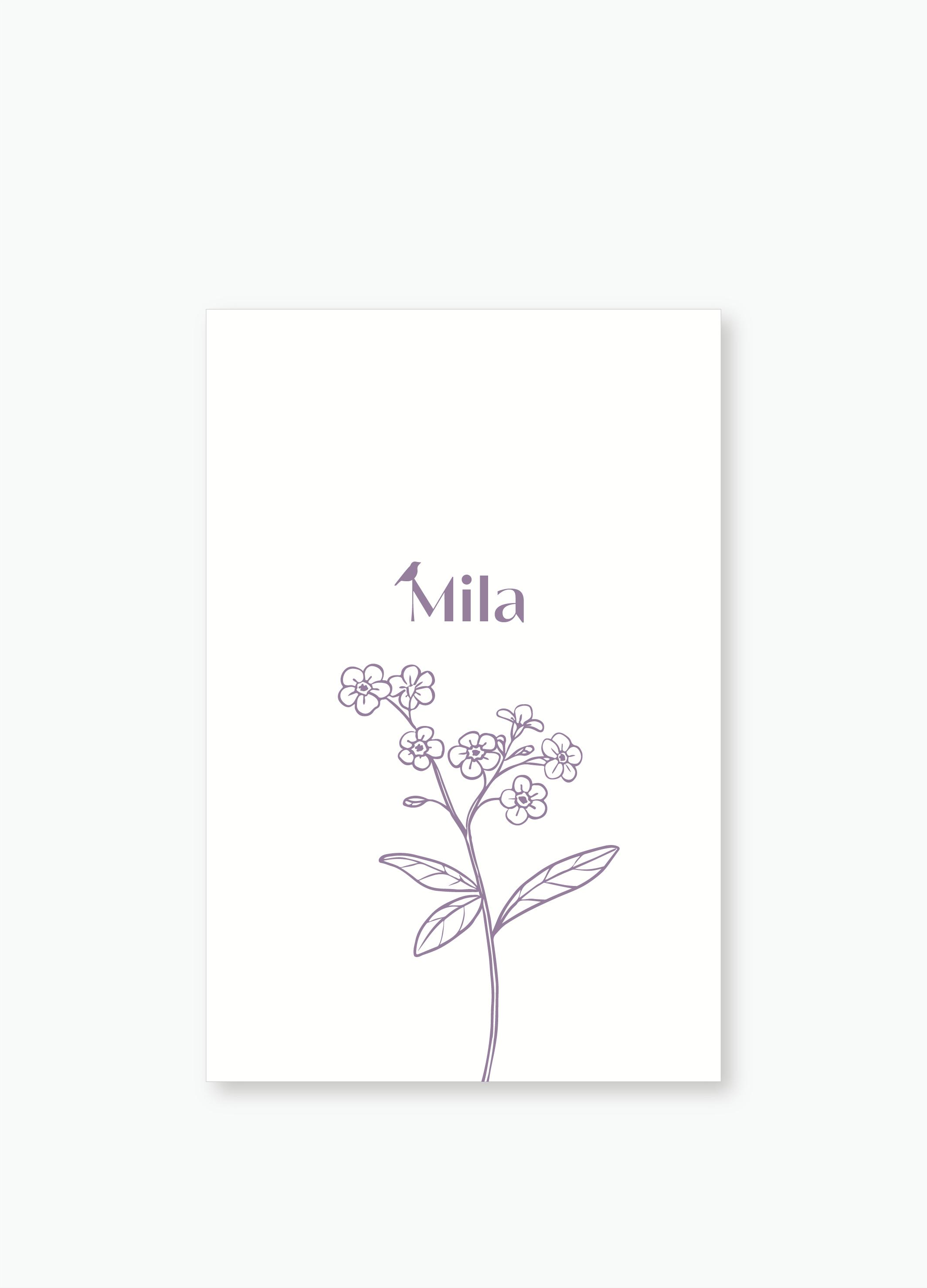 Geboortekaartje Mila | Studio Moose
