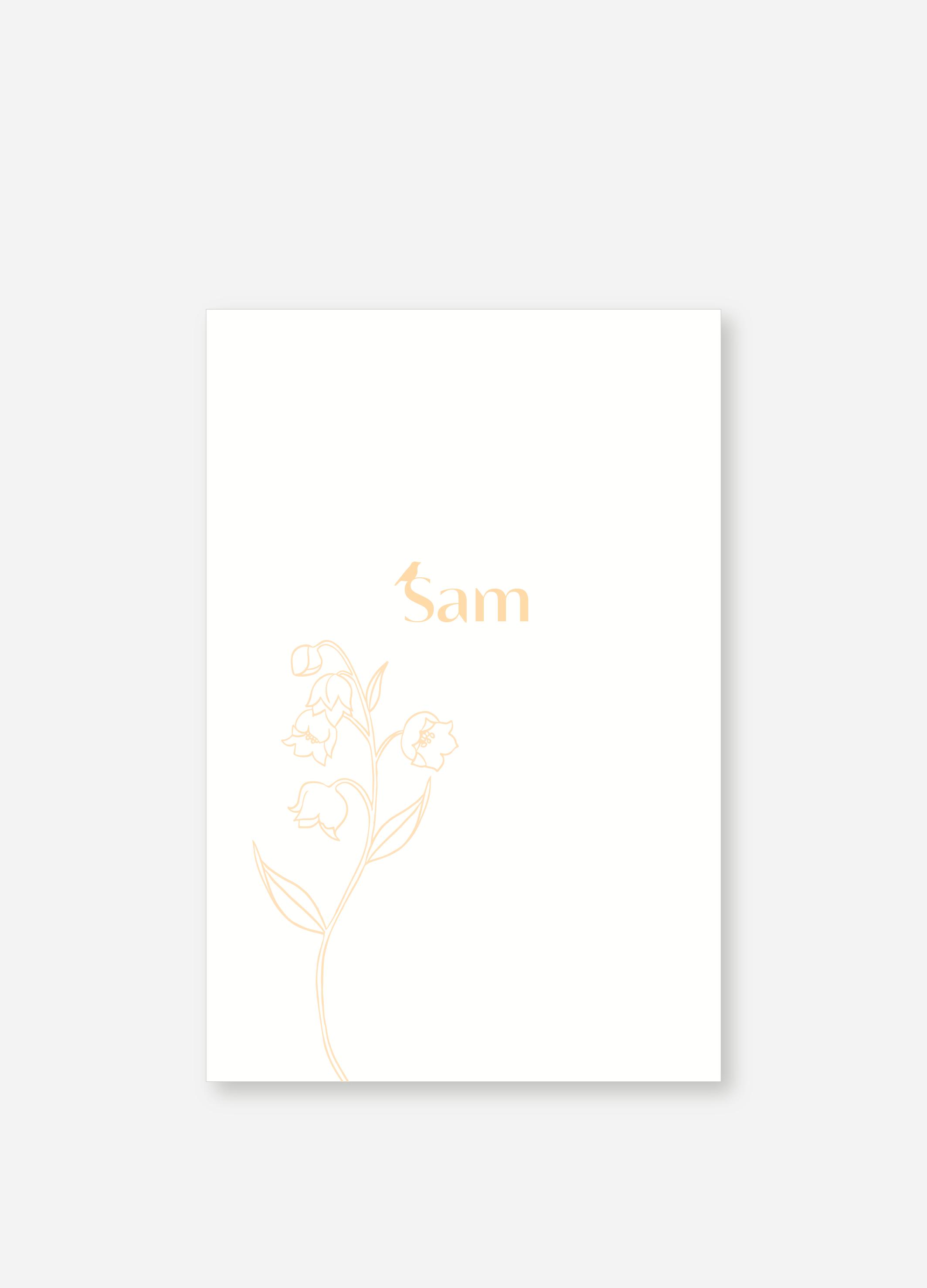 Geboortekaartje Sam | Studio Moose