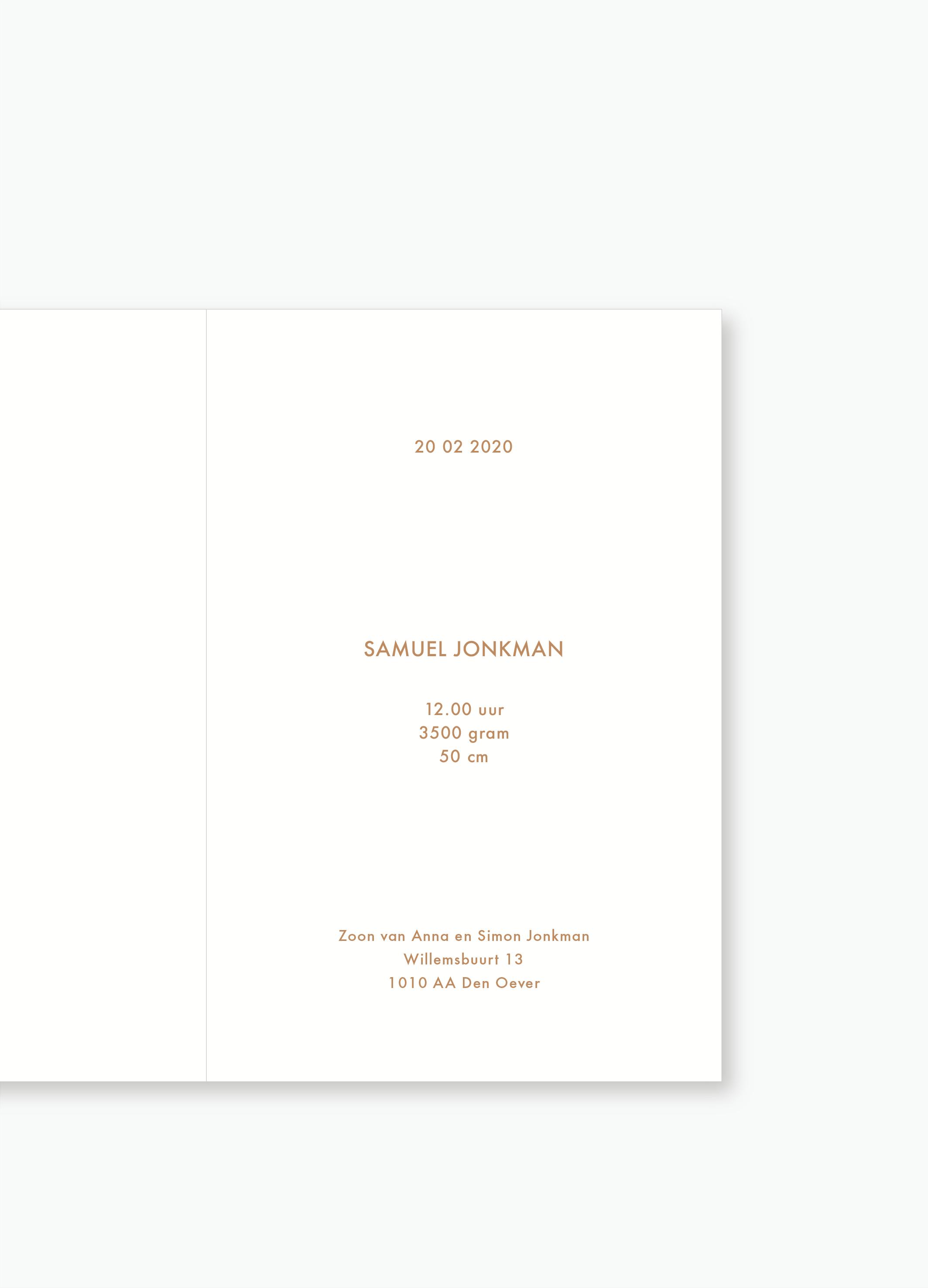 Geboortekaartje Samuel   Studio Moose