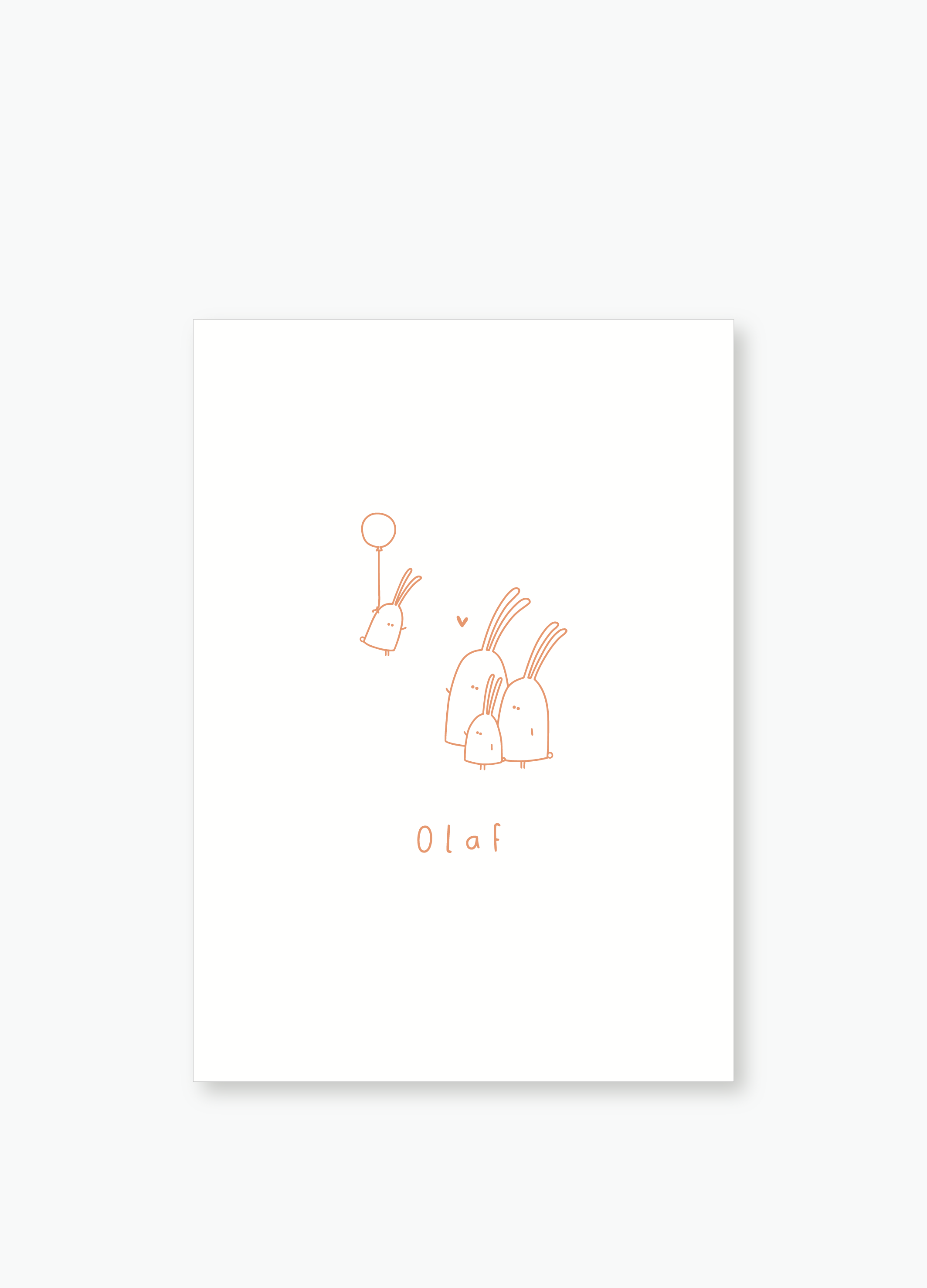 Geboortekaartje Olaf | Studio Moose