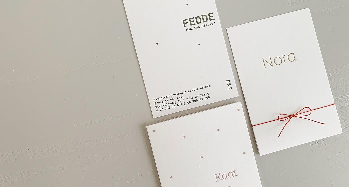 Letterpress geboortekaartjes | Studio Moose